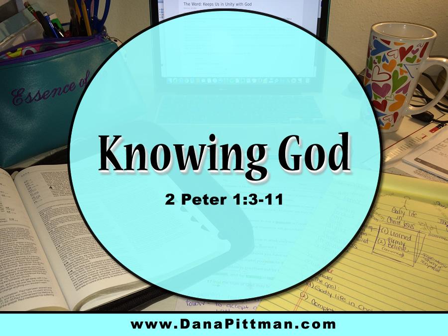Day 14: Knowing God | DanaPittman.com