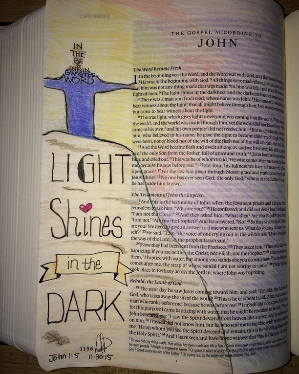 Day 1 - Advent Bible Journaling || DanaPittman.com