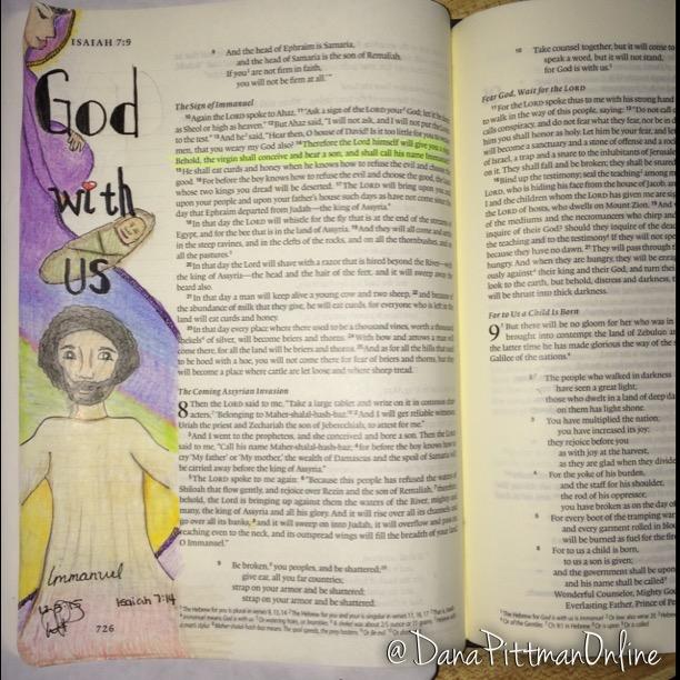 Day 4 - Advent Bible Journaling || DanaPittman.com